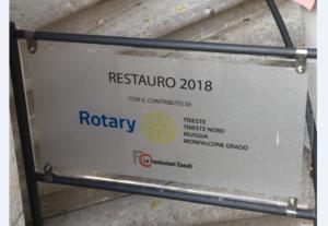 Targa intervento al Castello di Miramare 2018