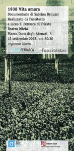Documentario VITA AMARA Liceo Petrarca Associazione Fuoritesto